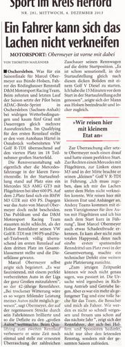 Neue Westfälische Motorsport Obermeyer 04.12.2013