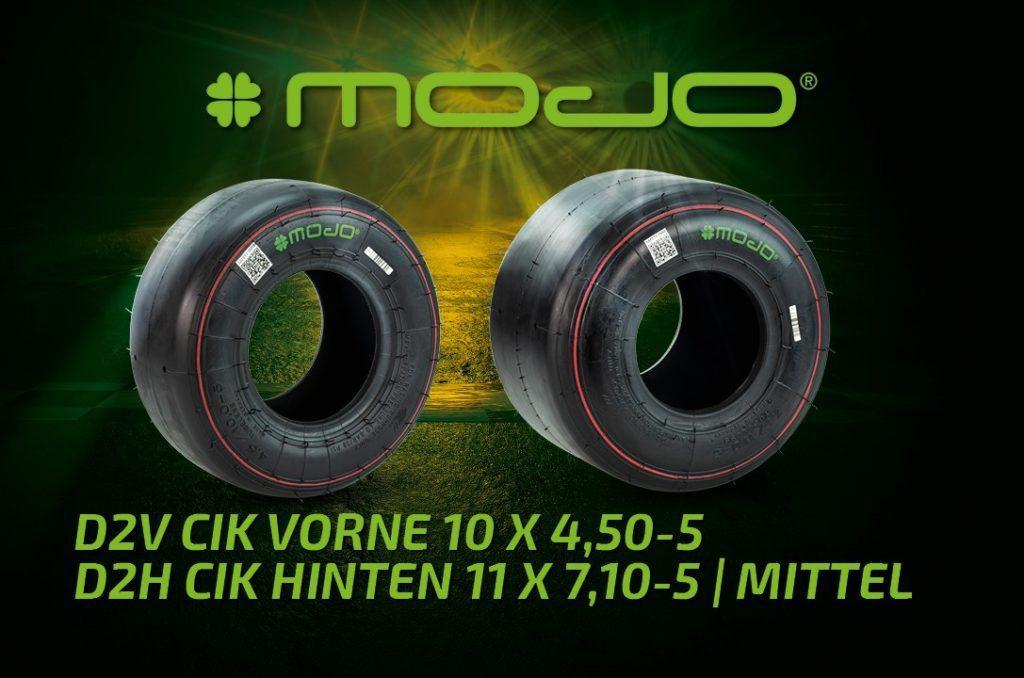 Kartreifen MOJO Slick D2 CIK Medium für Racing