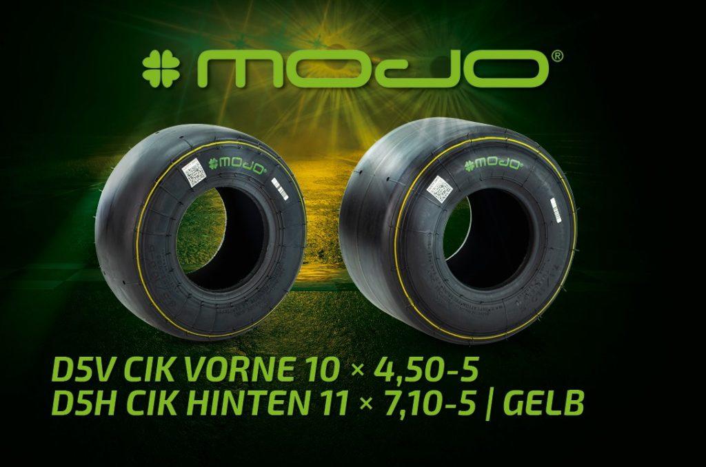 Kartreifen MOJO Slick D5 CIK gelb für Racing