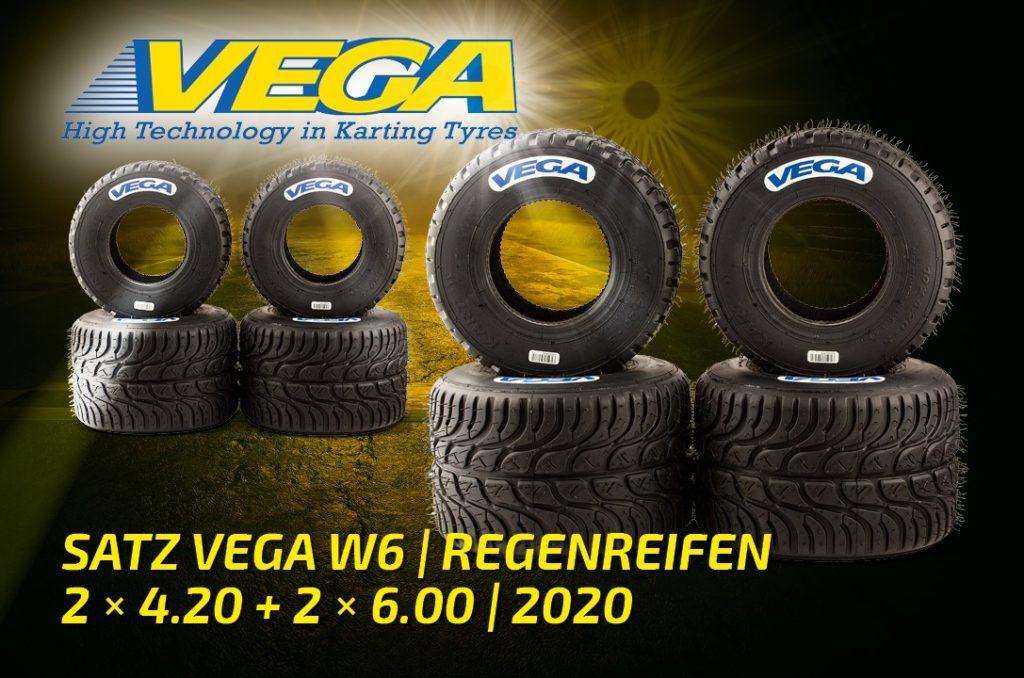 Satz Vega W6 Regenreifen