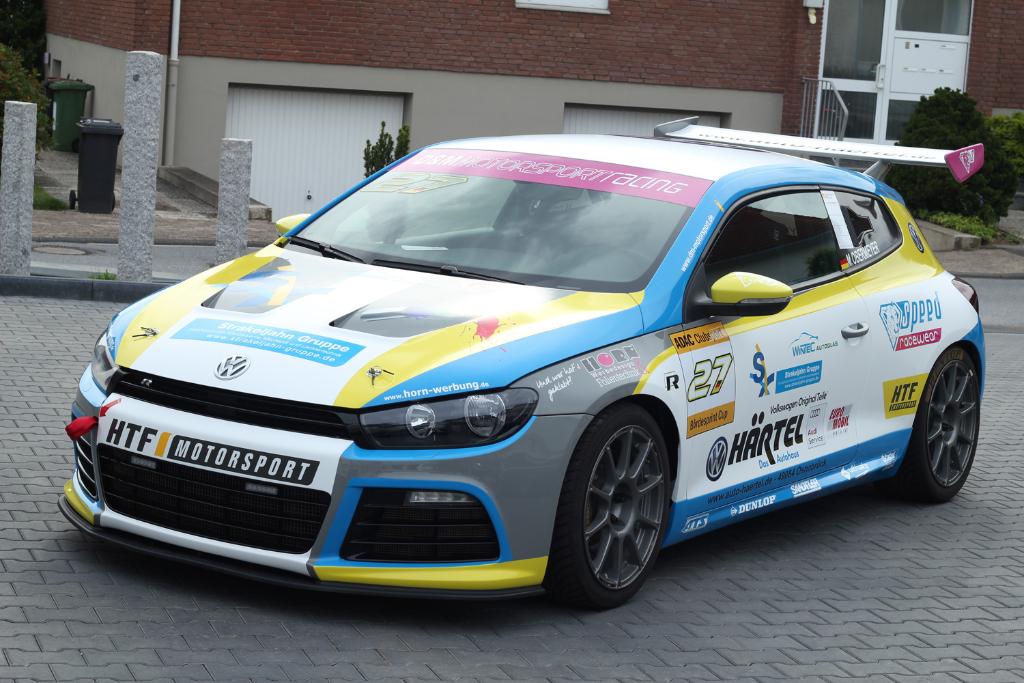 Marcel Obermeyer auf VW Scirocco Cup Rennwagen